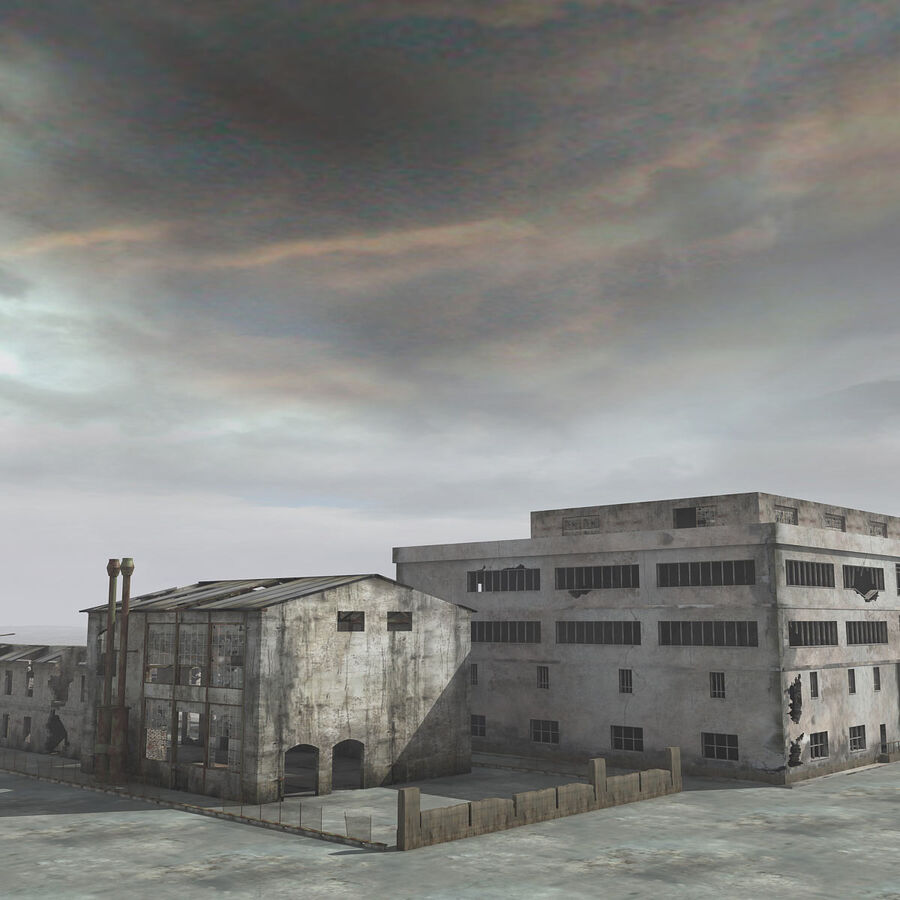 Ruin Destroyed Building City royalty-free 3d model - Preview no. 7