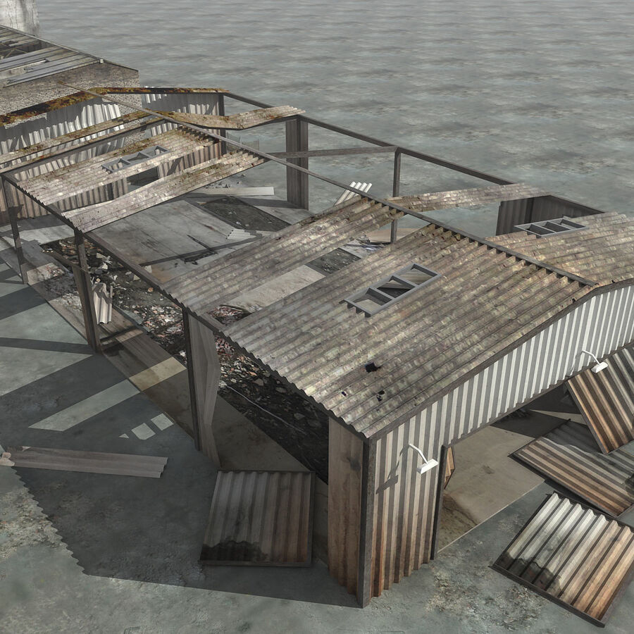 Ruin Destroyed Building City royalty-free 3d model - Preview no. 39