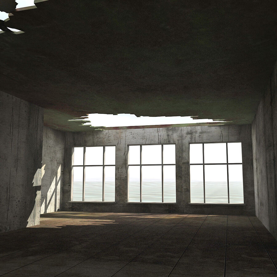 Ruin Destroyed Building City royalty-free 3d model - Preview no. 44