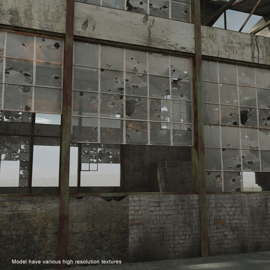 Ruin Destroyed Building City royalty-free 3d model - Preview no. 50