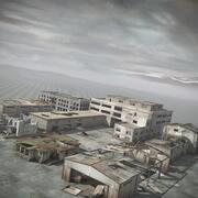 废墟被毁的建筑城 3d model