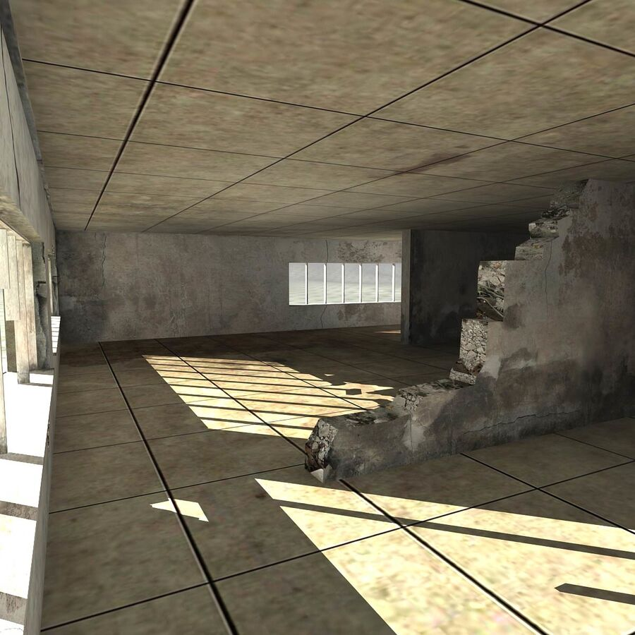Ruin Destroyed Building City royalty-free 3d model - Preview no. 55