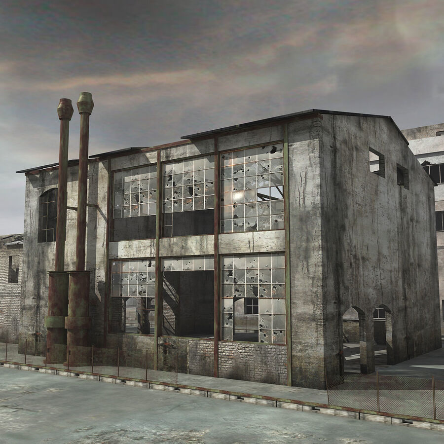 Ruin Destroyed Building City royalty-free 3d model - Preview no. 10