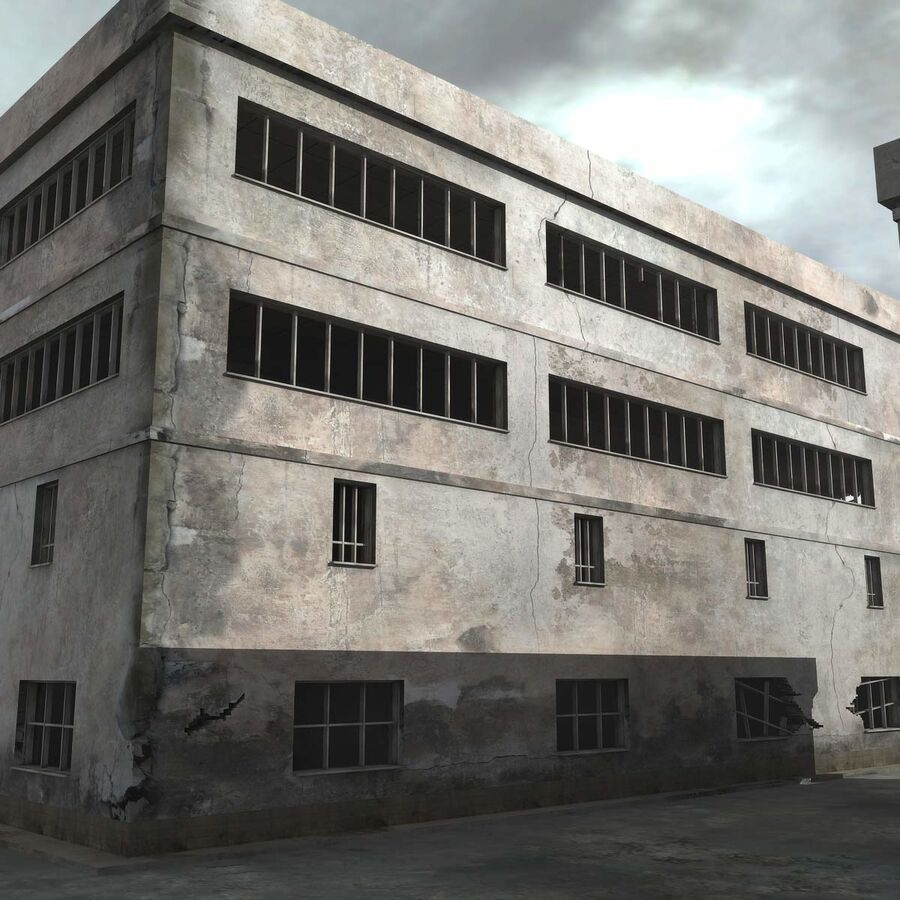 Ruin Destroyed Building City royalty-free 3d model - Preview no. 14