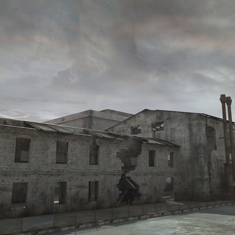Ruin Destroyed Building City royalty-free 3d model - Preview no. 9