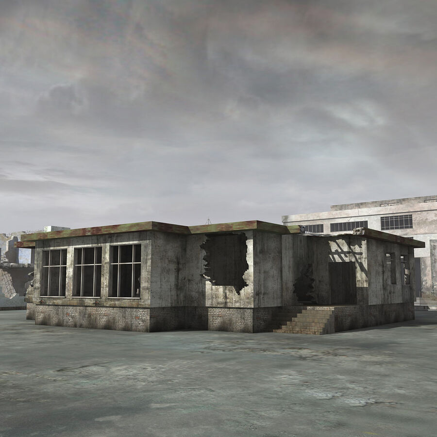 Ruin Destroyed Building City royalty-free 3d model - Preview no. 34