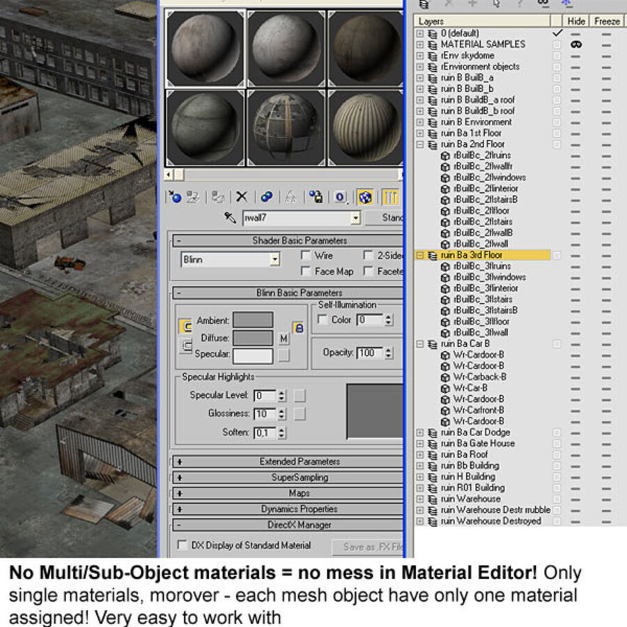 Ruin Destroyed Building City royalty-free 3d model - Preview no. 66