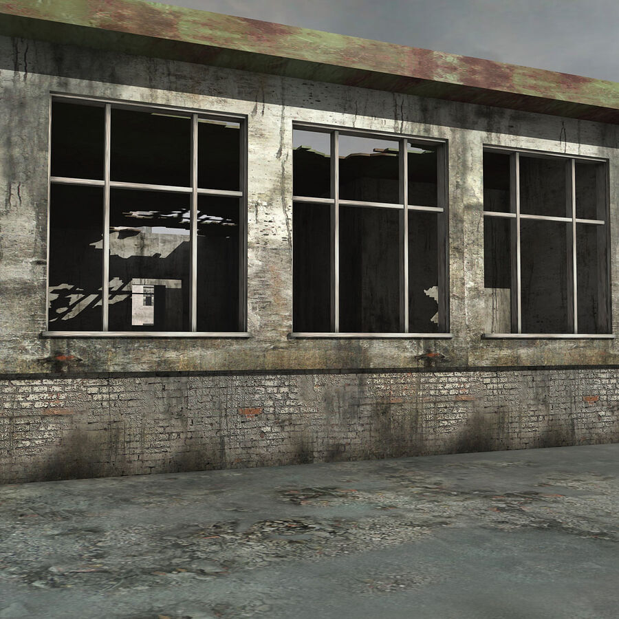 Ruin Destroyed Building City royalty-free 3d model - Preview no. 36