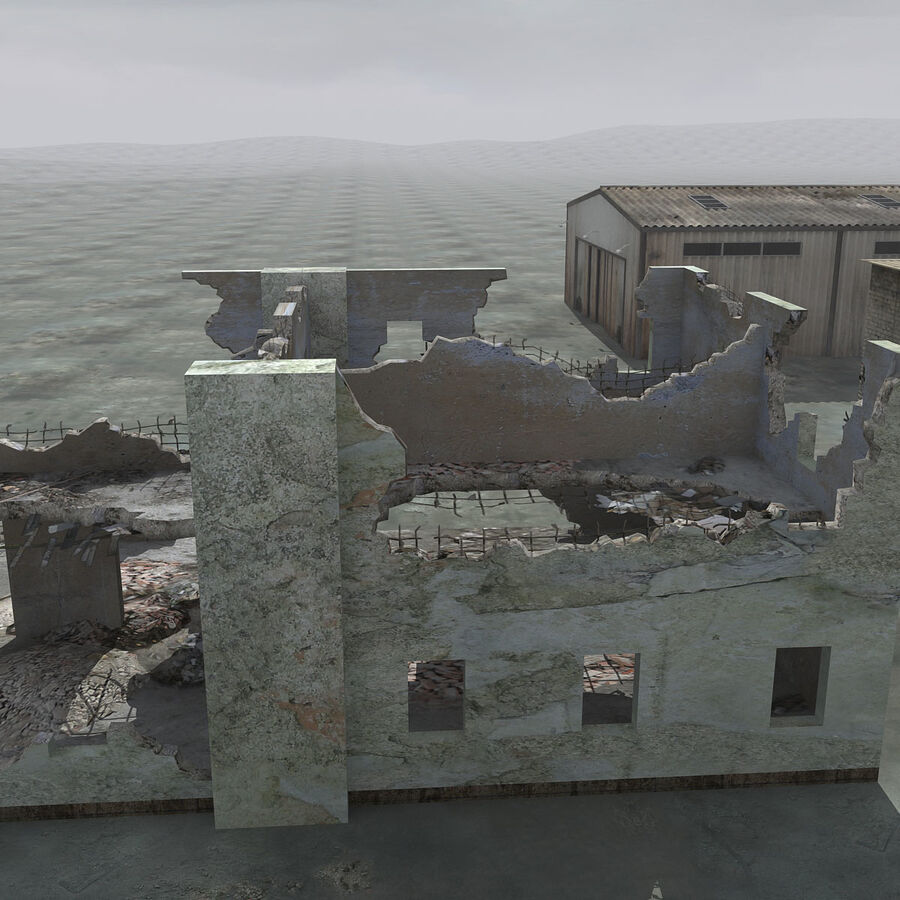 Ruin Destroyed Building City royalty-free 3d model - Preview no. 26