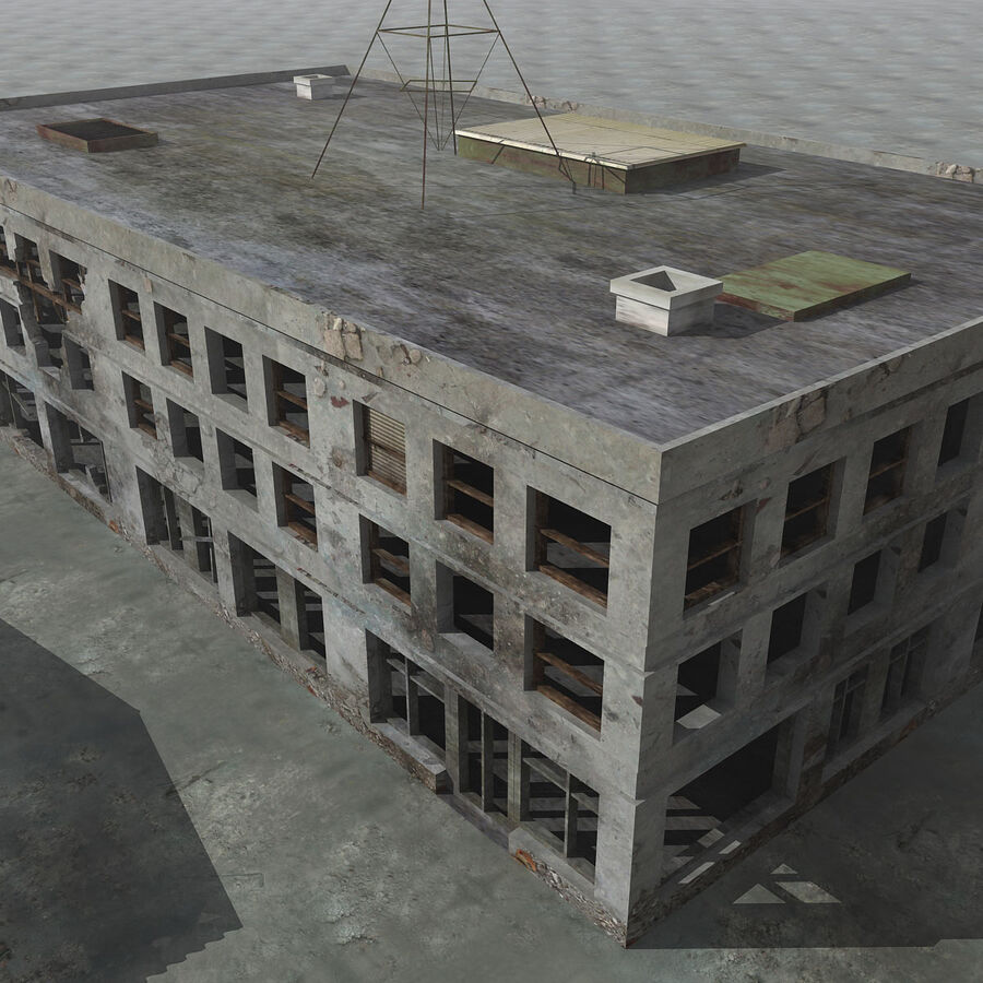 Ruin Destroyed Building City royalty-free 3d model - Preview no. 43