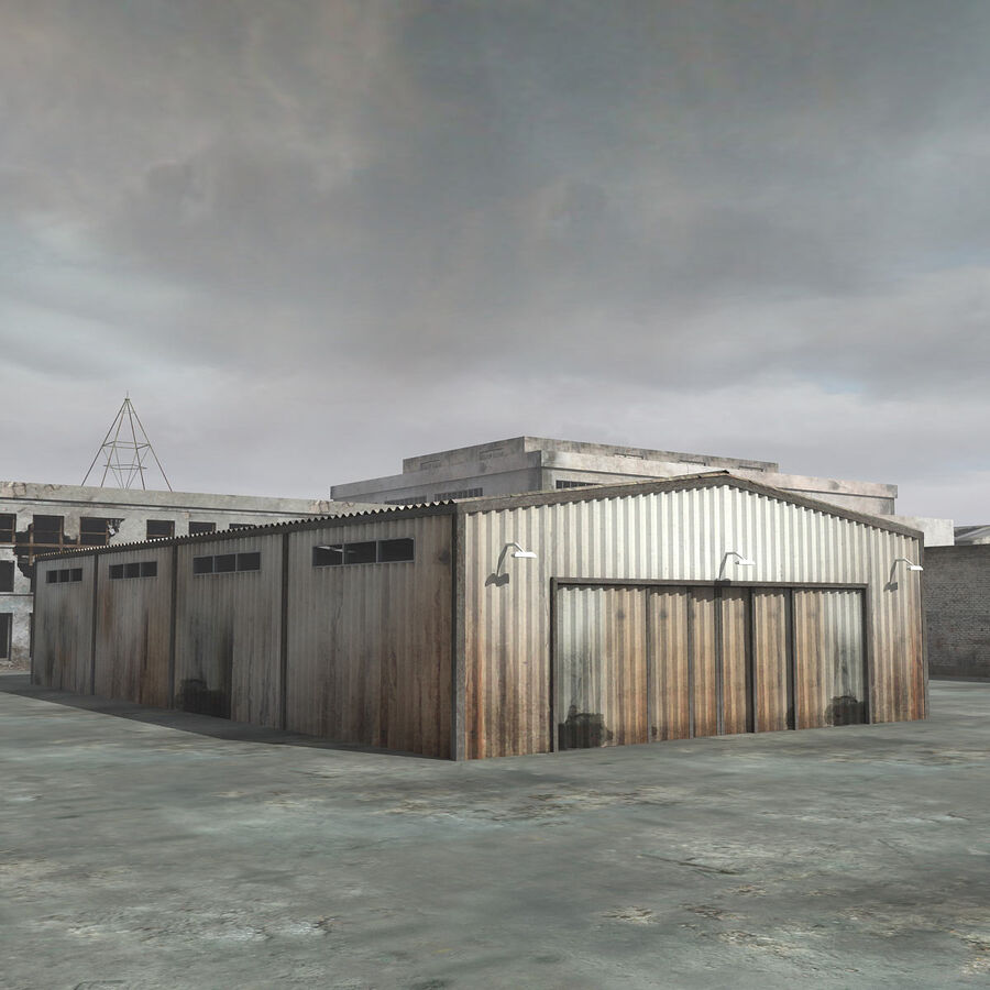 Ruin Destroyed Building City royalty-free 3d model - Preview no. 41