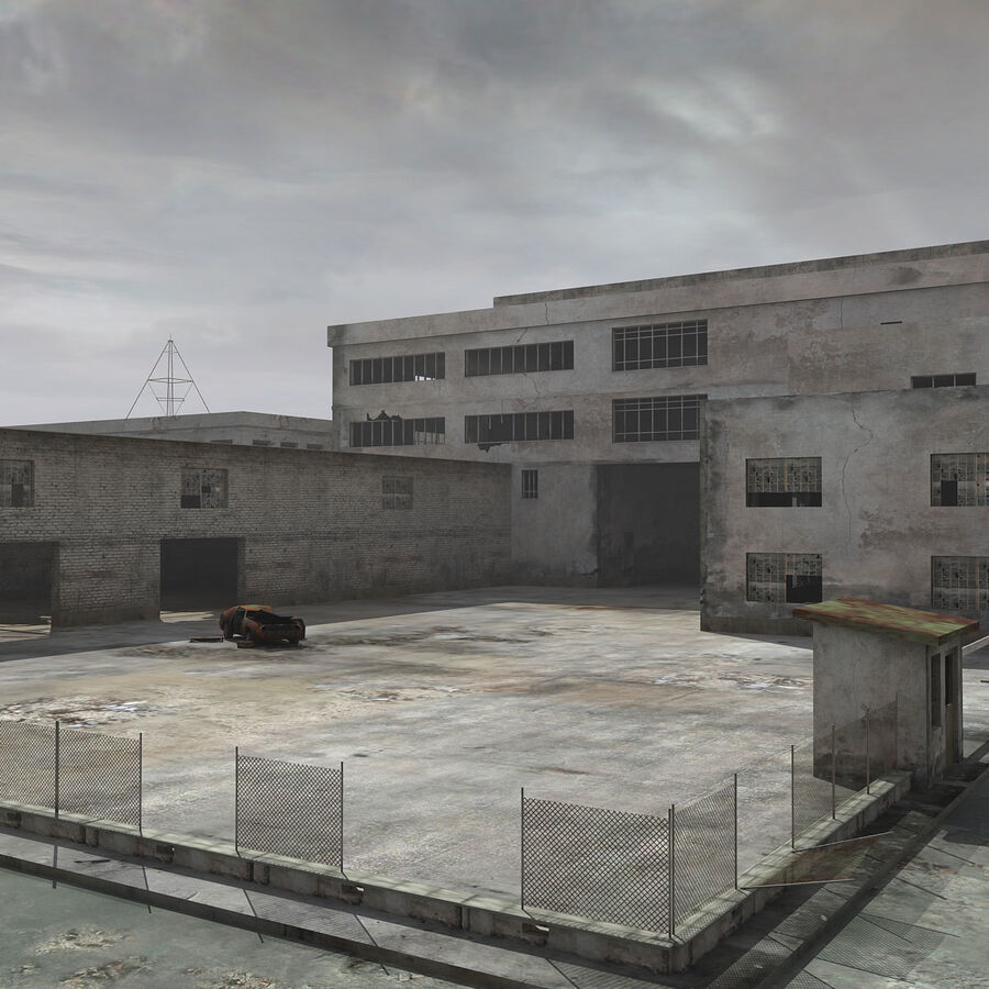 Ruin Destroyed Building City royalty-free 3d model - Preview no. 12