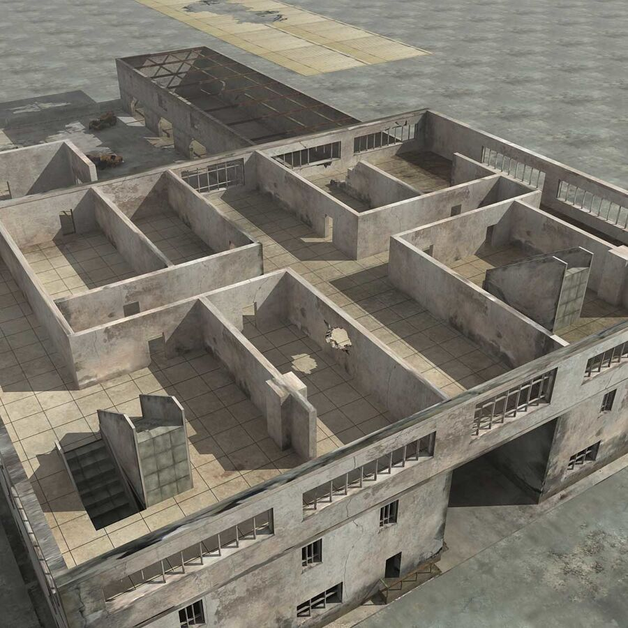 Ruin Destroyed Building City royalty-free 3d model - Preview no. 60