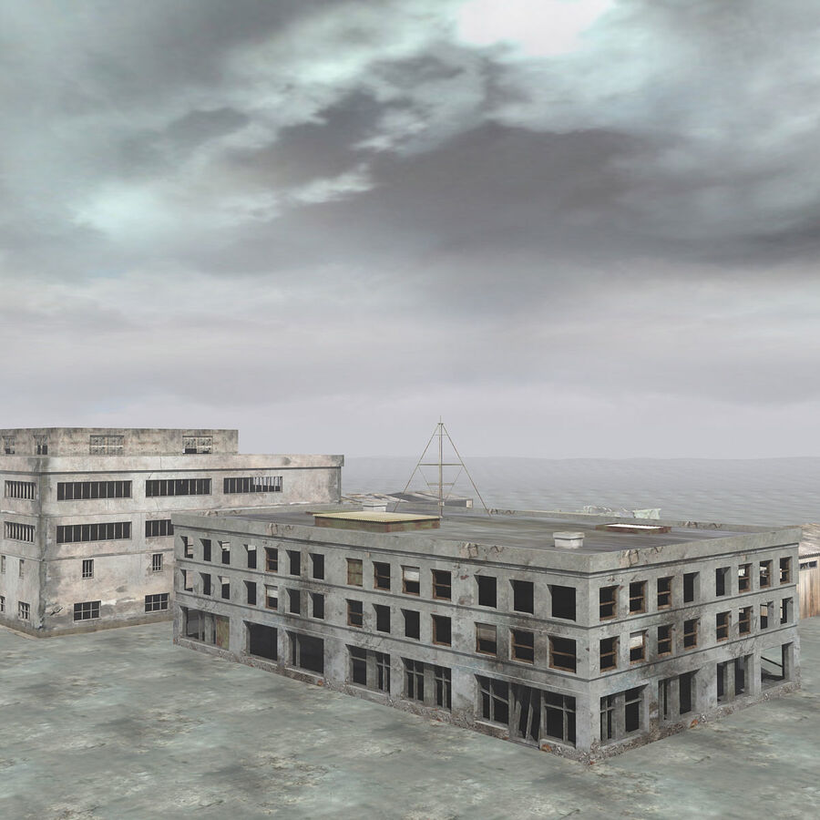 Ruin Destroyed Building City royalty-free 3d model - Preview no. 8