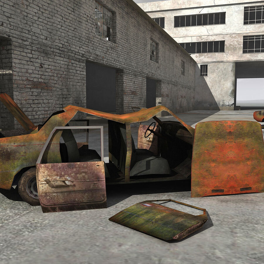 Ruin Destroyed Building City royalty-free 3d model - Preview no. 20