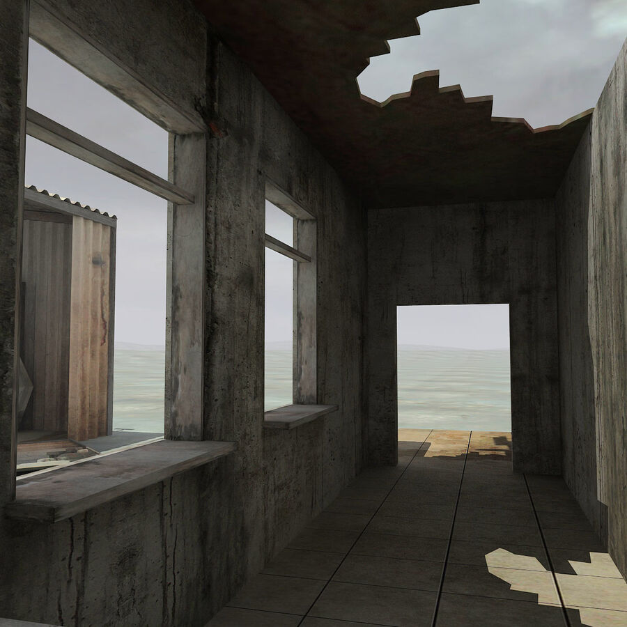 Ruin Destroyed Building City royalty-free 3d model - Preview no. 47