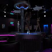 Strip Club With Girls 3d model