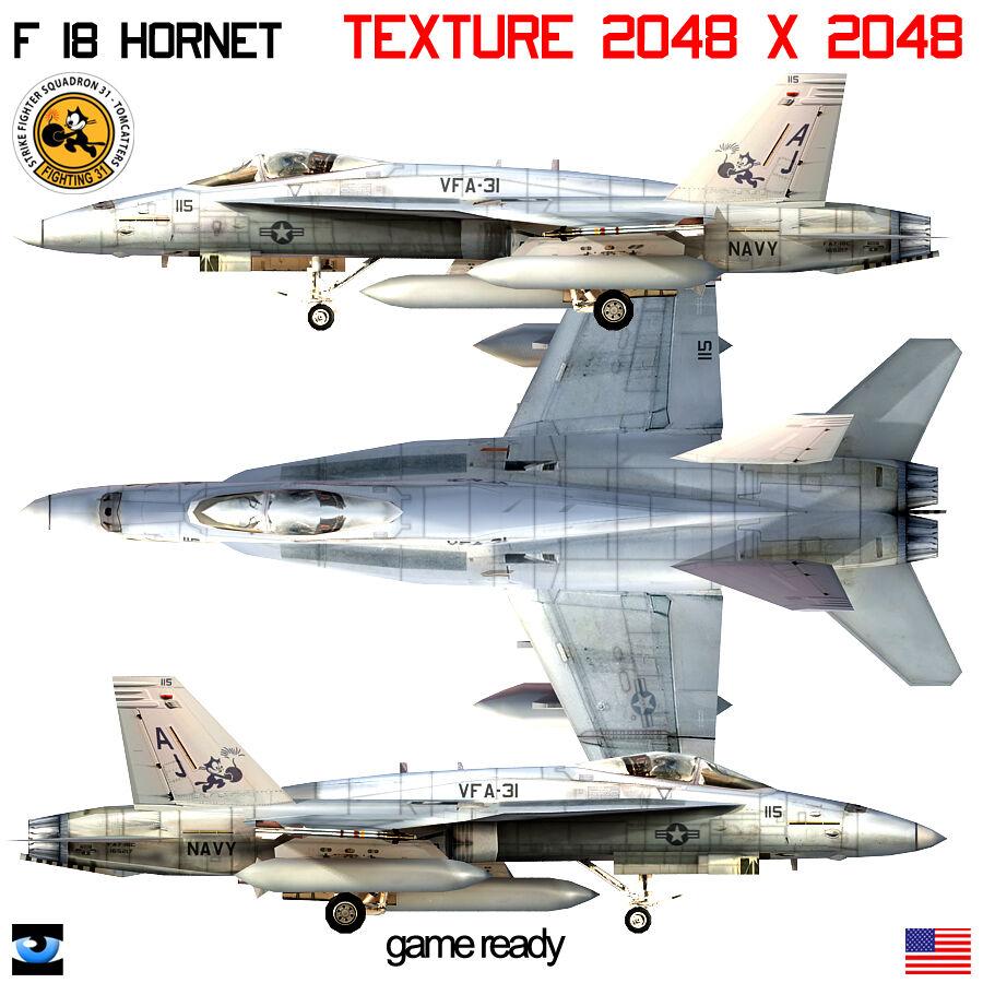 F18 Hornet Navy Collection 3d Model 225 Xsi Obj Max Lwo Flt Fbx 3ds Free3d