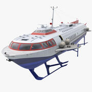 Passagier Tragflügelboot 3d model