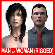 Man and Woman (Rigged) 3d model