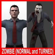 Зомби (нормальный и повернутый) (подстроенный) 3d model