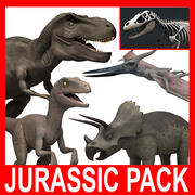 Jurassic Pack (5 Rigged Models) 3d model