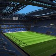 Voetbal stadion 3d model