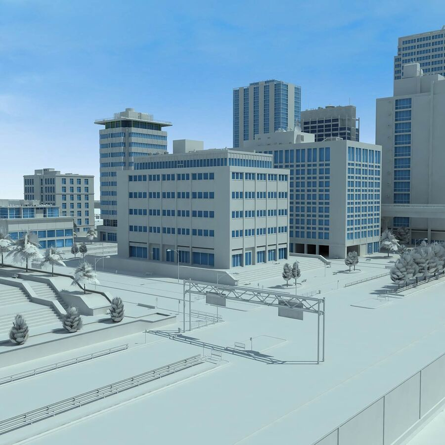 City Grey Cityscape royalty-free 3d model - Preview no. 12