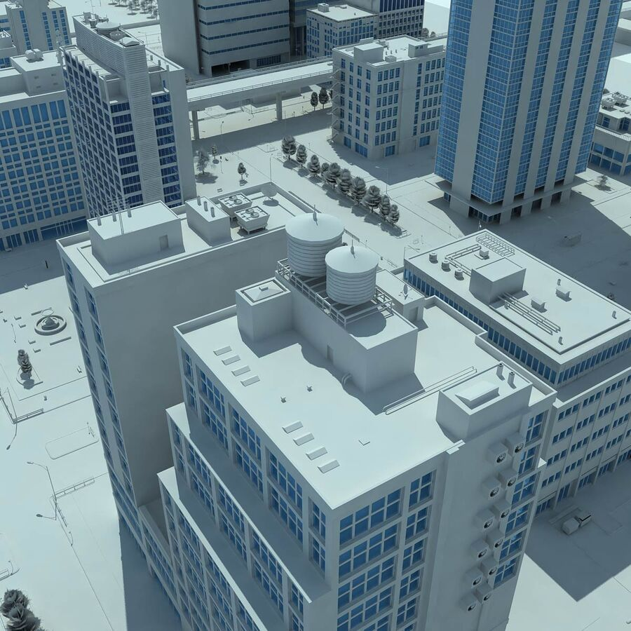 City Grey Cityscape royalty-free 3d model - Preview no. 18