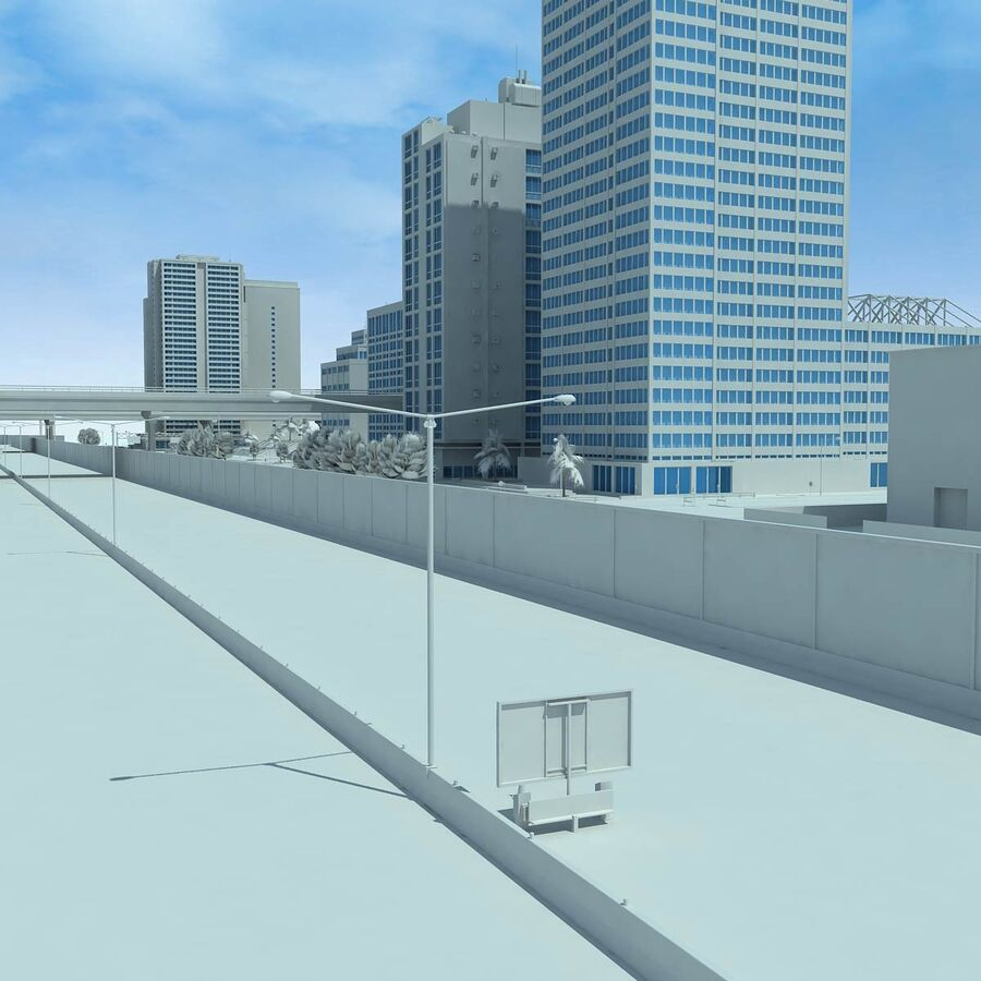 City Grey Cityscape royalty-free 3d model - Preview no. 16