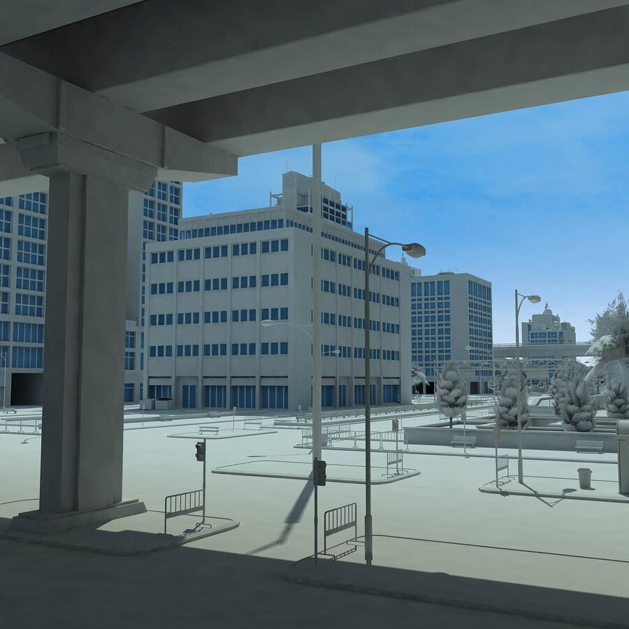 City Grey Cityscape royalty-free 3d model - Preview no. 17