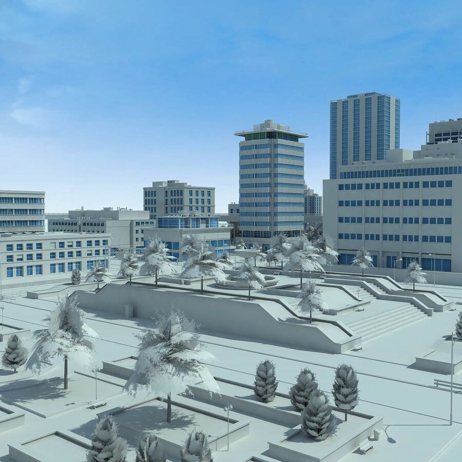 City Grey Cityscape royalty-free 3d model - Preview no. 8