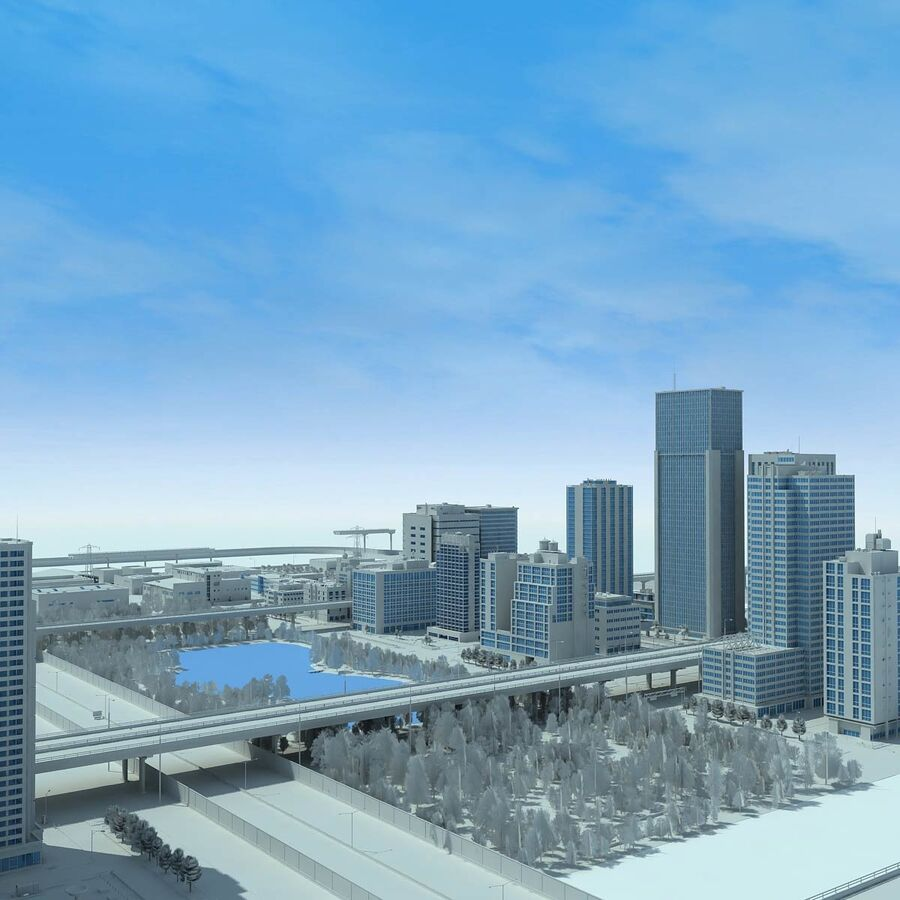 City Grey Cityscape royalty-free 3d model - Preview no. 10