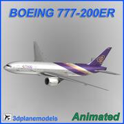 ボーイング777-200ERタイ航空インターナショナル 3d model