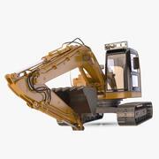 Excavadora completamente equipada modelo 3d