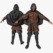 中世纪小偷索具 3d model