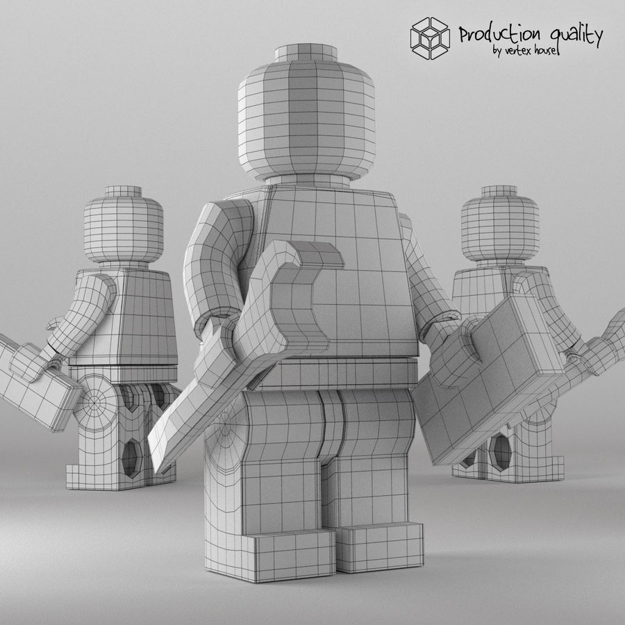 Lego Demolition Man Figure royalty-free 3d model - Preview no. 6