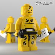 Лего Разрушение Человек Фигура 3d model