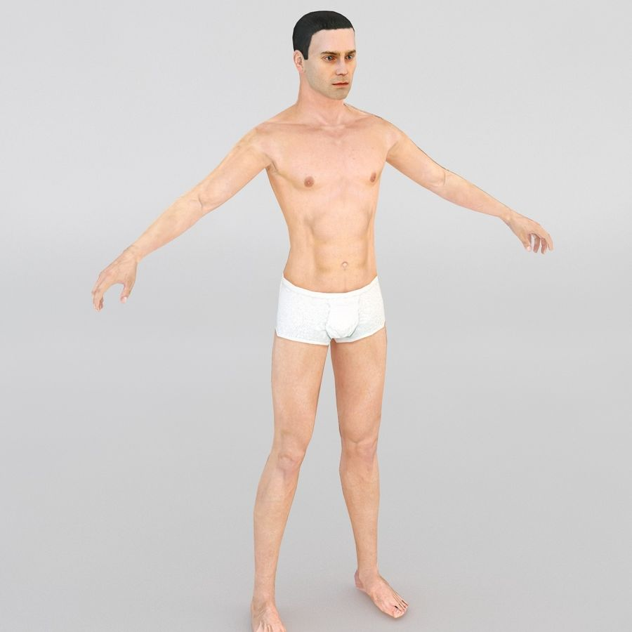 Man in a suit royalty-free 3d model - Preview no. 7