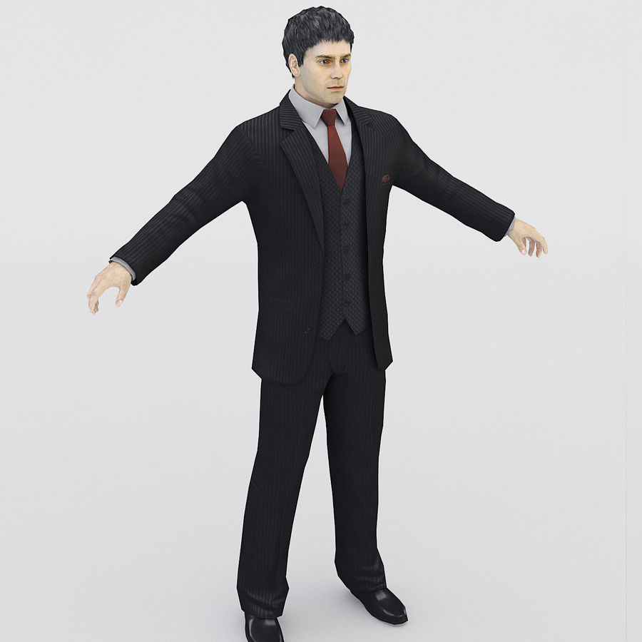 Man in a suit royalty-free 3d model - Preview no. 1