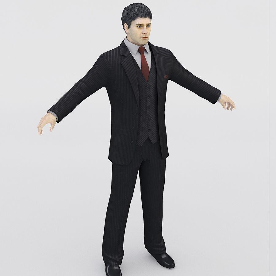 Man i en kostym royalty-free 3d model - Preview no. 1