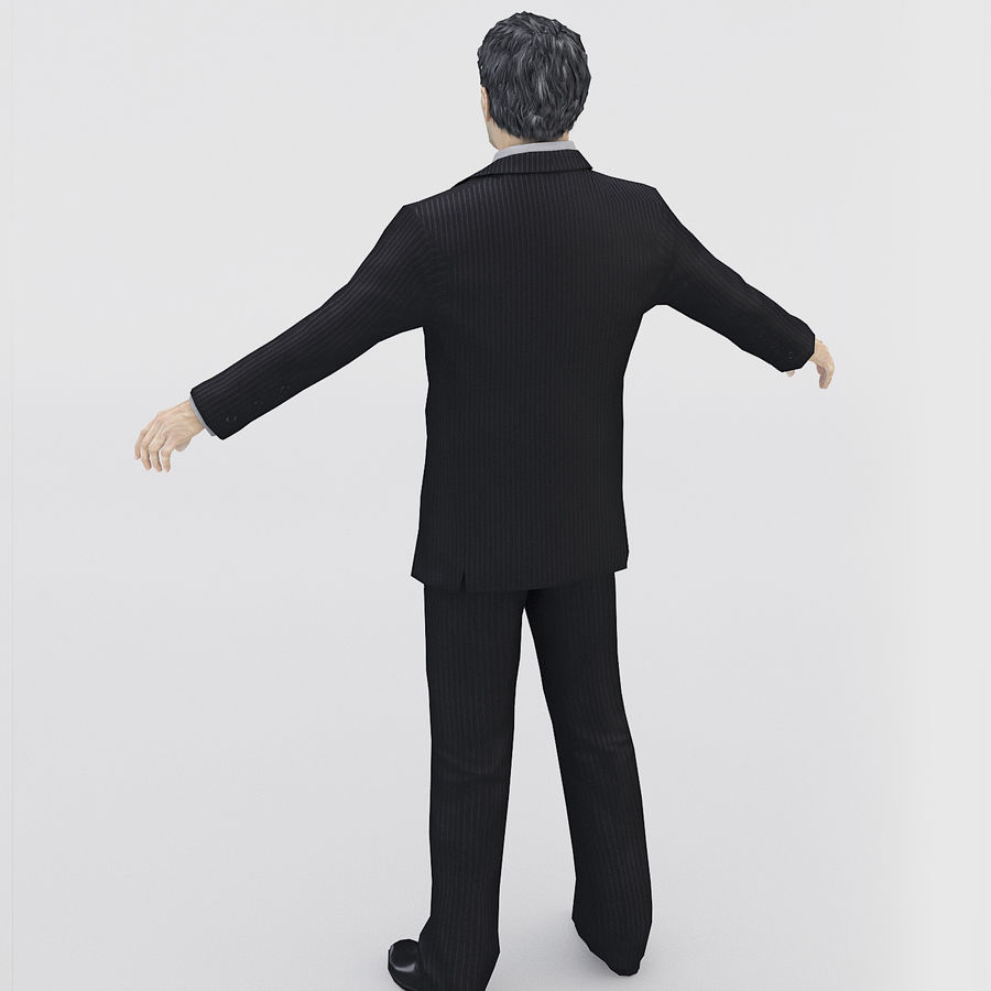 Man in a suit royalty-free 3d model - Preview no. 2