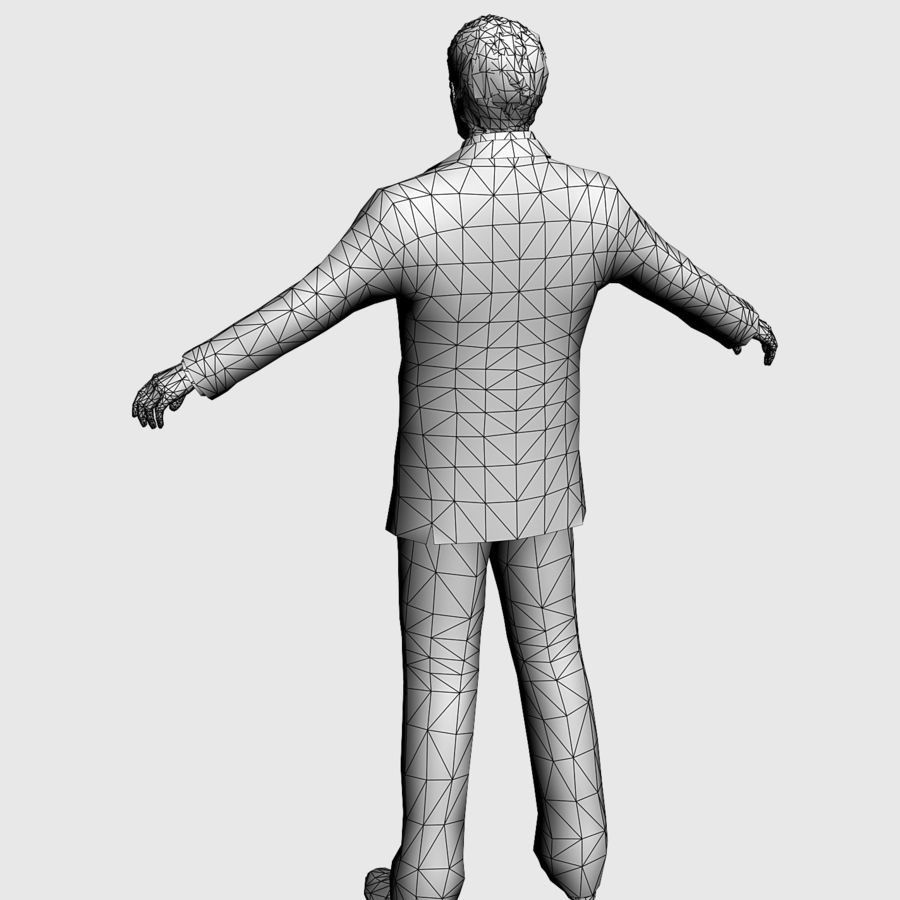 Man in a suit royalty-free 3d model - Preview no. 4