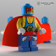 Lego Super Wrestler Figur 3d model
