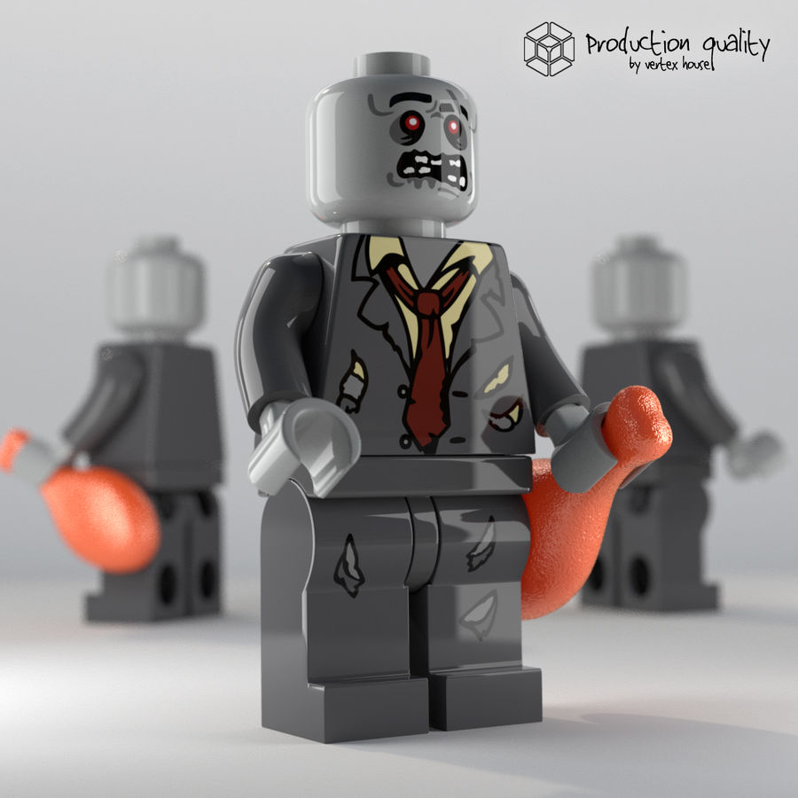 Lego zombie figure modello 3d $25 .lwo .obj .max .ma .lxo .fbx