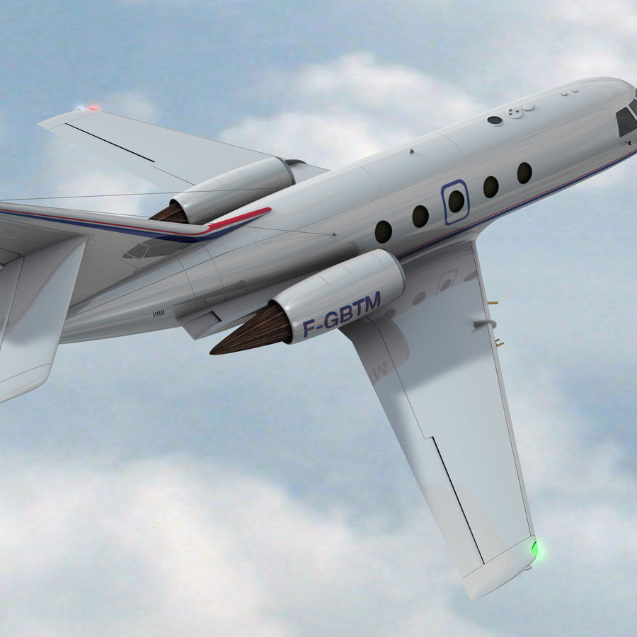 Falcon 20 de Meteo FR royalty-free 3d model - Preview no. 2