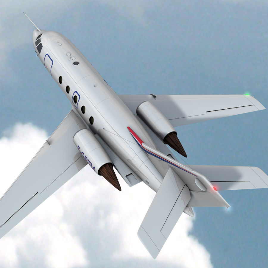 Falcon 20 de Meteo FR royalty-free 3d model - Preview no. 5