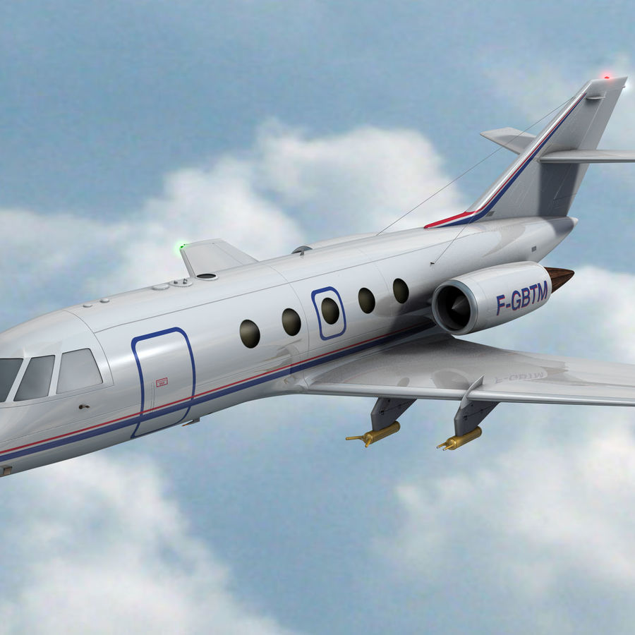 Falcon 20 de Meteo FR royalty-free 3d model - Preview no. 1