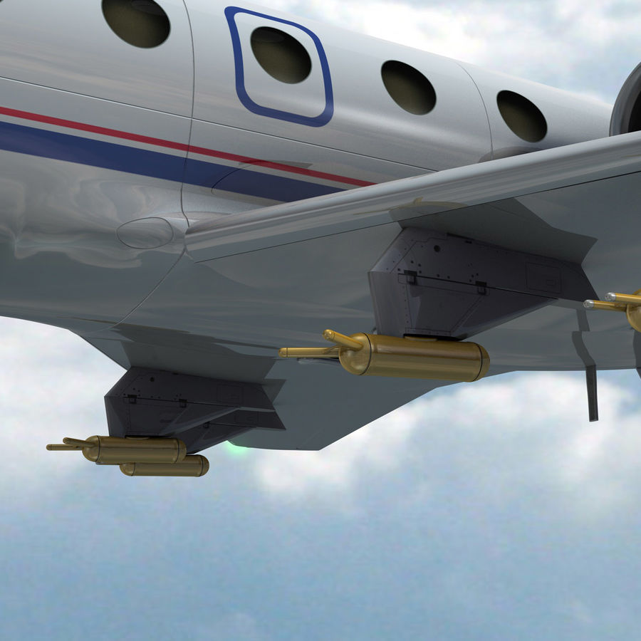 Falcon 20 de Meteo FR royalty-free 3d model - Preview no. 4