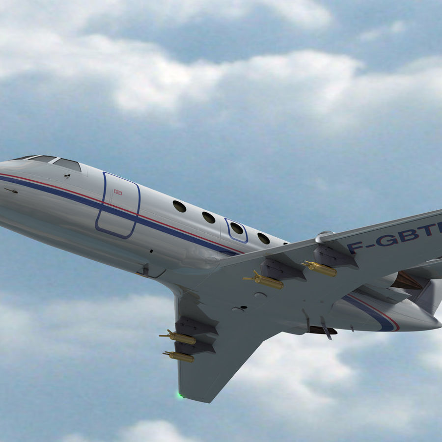 Falcon 20 de Meteo FR royalty-free 3d model - Preview no. 3